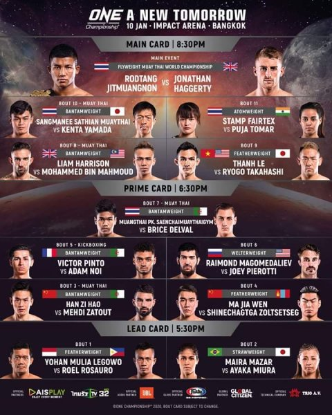 'ONE: A New Tomorrow' fight card