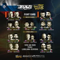 'BRAVE CF 34,' 'WFC 24' fight card, results: Luka Podkrajsek vs Viktor Vasic, Ivica Truscek vs Benoit St. Denis in Ljubljana, Slovenia