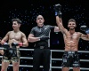 Victor Pinto, Olivier Coste, Adam Noi (©ONE Championship)