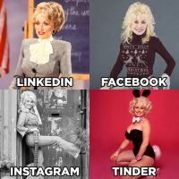 Dolly Parton pioneers LinkedIn, Facebook, Instagram, Tinder meme; Naomi Campbell, Ellen DeGeneres, Mark Ruffalo follow suit