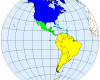 map of sub-regions of the Americas