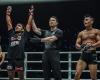 Abro Fernandes, Yoshinori Umeki, Eko Priandono (©ONE Championship)