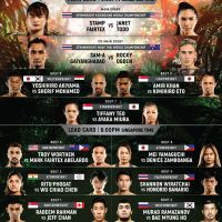 'ONE: King of the Jungle' fight card, results: Stamp Fairtex vs Janet Todd, Sam-A Gaiyanghadao vs Rocky Ogden in Singapore