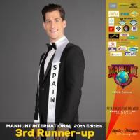 Las Palmas, Spain's Yeray Hidalgo named Manhunt International 2019 third runner-up in Quezon City, Philippines