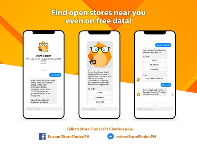 Store Finder PH chatbot