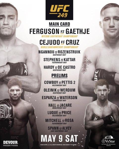 'UFC 249' poster