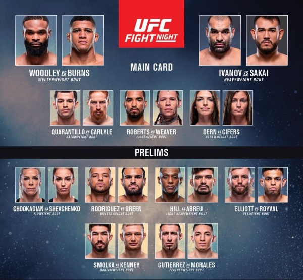 """UFC on ESPN 9"" fight card"