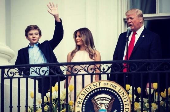 Barron Trump, Melania Trump, Donald Trump Sr.