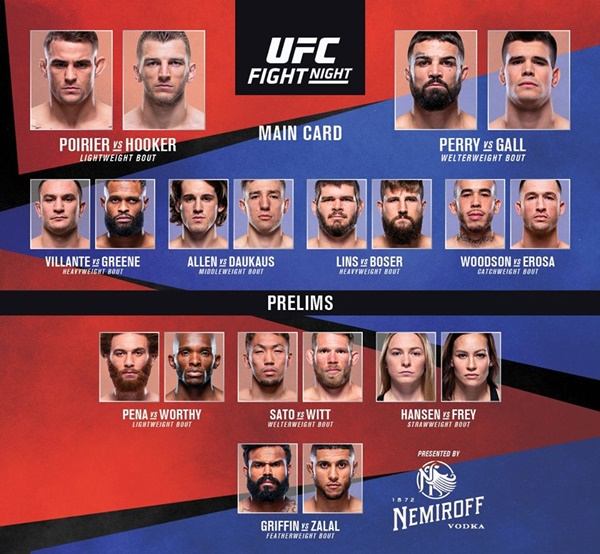 'UFC Vegas 4' fight card