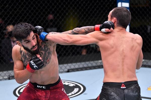 Ilia Topuria, Damon Jackson (© UFC)